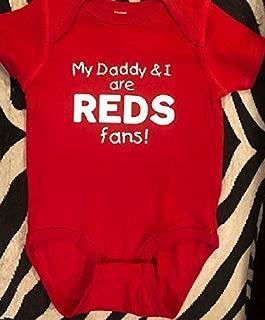 Cincinnati Reds baby shirt Reds infant bodysuit baseball one piece handmade