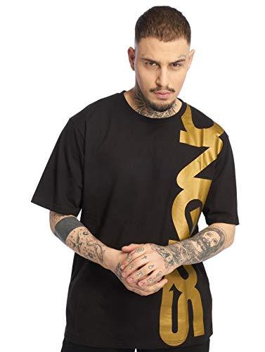 Herren DNGRS T-Shirt Silent Anger Classic Brandlogo-Print locker, Größe T-Shirt:M, Farben:Gold