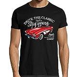 CARSPIRIT T-Shirt Homme Voiture, Chevrolet Corvette, Stay Young, Stay Free, qualité Française,100% Coton Bio (XL)