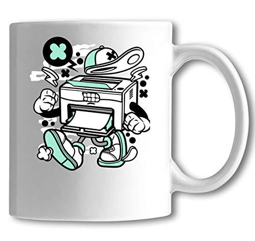 Cartoon Stijl Laser Printer Heeft Inkt Wit Keramische Thee Koffie Mok