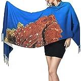 Bufanda de mantón Mujer Chales para, Pulpo Moda para mujer Mantón largo Invierno Cálido Bufanda grande Bufanda de cachemira