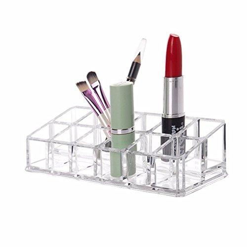 Porta Batom Maquiagem Organizador Com 12 Divisões Acrílico