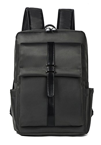 beibao shop Backpack Sacs à Dos pour Ordinateur Portable Hommes Affaires Loisirs Nylon Imperméable Respirant Résistant à l'usure Épaule Extérieur Multi-Fonctionnel Sac à Dos d'ordinateur, Gray
