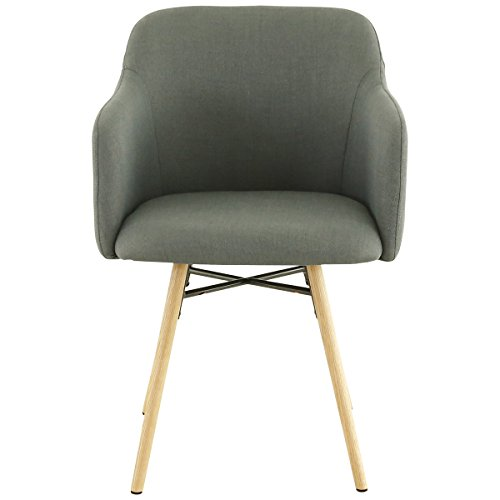 Zago Fauteuil Tissu et chêne Naturel May