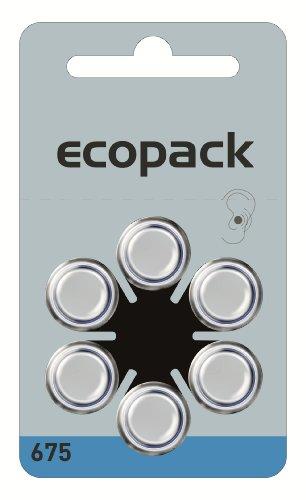 60 pcs Varta Ecopack ZA 675 pilas para audífonos - 650 mAh 1,4 V