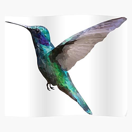 Polygon Poly Bird Origami Hummingbird Humming Abstract Geometric Low Home Decor Wall Art Print Poster !