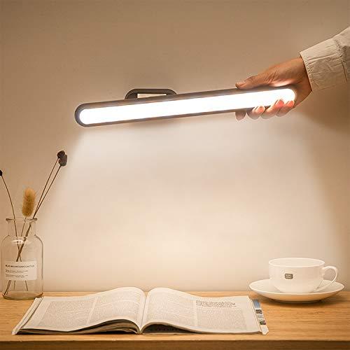 Semlos LED Lichtleiste, Wiederaufladbare USB Leselampen mit Akku, Stufenlose Dimm Touch Lampe für das Arbeitszimmer im Schlafsaal am Krankenbett