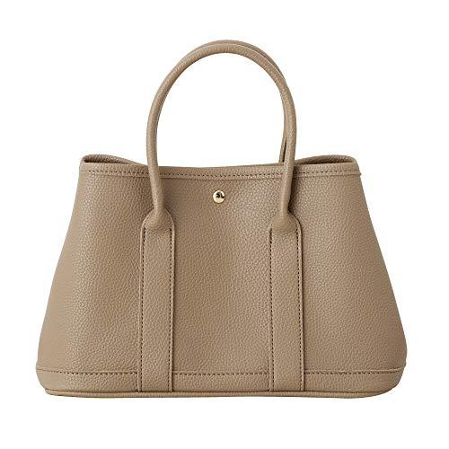 [cream dot クリームドット] MLサイズ 2way シンプル トートバッグ 鞄 BAG 大きめ A4 B5 大人 上品 オフィス 【グレージュ×L】