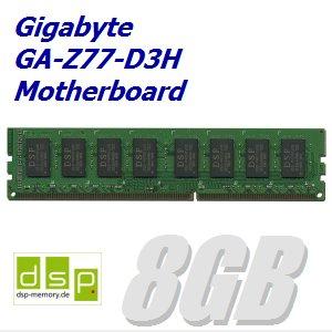 DSP Memory 8GB Speicher/RAM für Gigabyte GA-Z77-D3H Motherboard