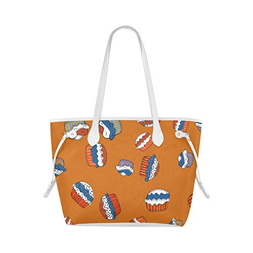 College Tote Bag Macaron Blue Fantesy Surprise Shoulder Travel Bag Carry Shoulder Bag Large Capacity Water Resistant With Durable Handle