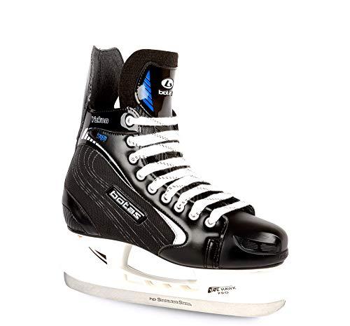 Botas Herren Eishockeyschlittschuhe Yukon 381, (Tschechische Republik), Farbe: Schwarz mit Silber, Schwarz mit Silber, Erwachsene