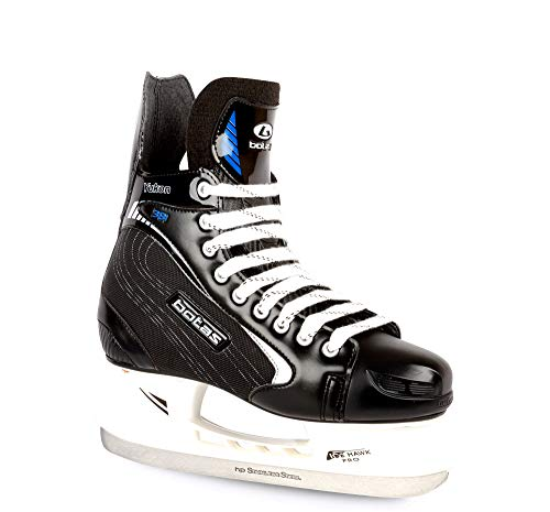 Botas - Yukon 381 - Men's Ice Hockey Skates | Made in Europe (Czech Republic) | Color: Black with Silver, Size Adult 14