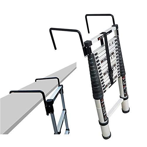 8.5FT aluminio telescópica Escalera, telescópicos escaleras de extensión for uso doméstico industrial Daily interior o exterior Uso, 330lbs Capacidad Max lxhff