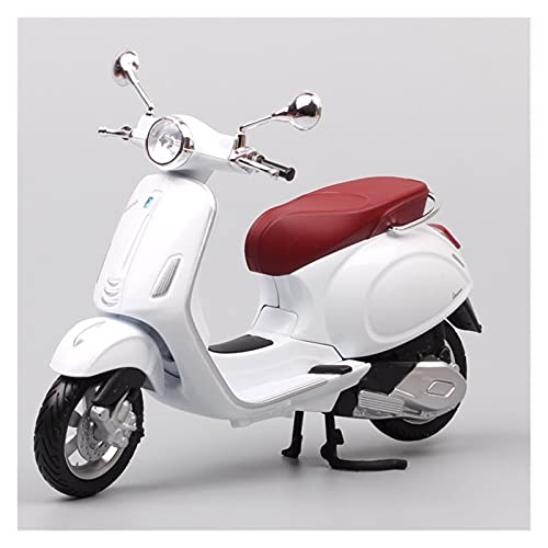 Boutique 1/12 para Piaggio Vespa Primavera 150 Simulación Motocicleta Modelo Fundición A Presión Colección Decoración Regalo Coche Juguete (Color : Rojo)