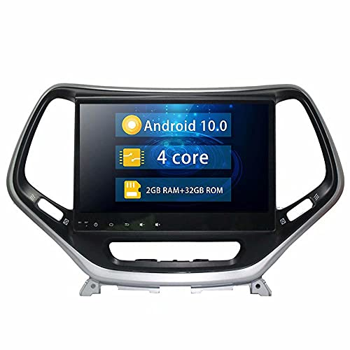 ROADYAKO 10.1Inch 2Din Android 10.0 Auto Navegación GPS Car PC Center Multimedia para Jeep Cherokee 2016 2017 2018 2019 Car Multimedia Support SWC 4G WiFi Blutooth RDS FM Am