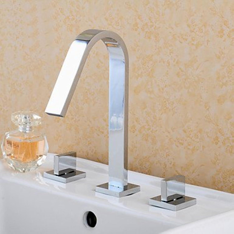 SHUILT weit verbreitet zwei Griffe drei Lcher in Spültischbatterie Chrom Badezimmer