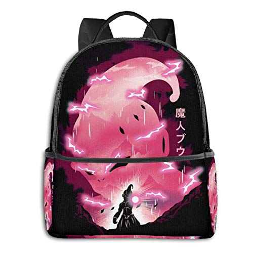 IUBBKI Mochila lateral negra Mochilas informales Anime & Evil Pink Classic Student School Bag School Cycling Leisure Travel Camping Outdoor Backpack