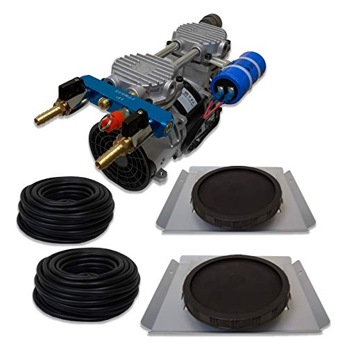HALF OFF PONDS Pro Aeration, Deep Water System for Ponds and Lakes - (1) 1/2HP, 3.9 CFM Air Compressor, (2) Single-10 EPDM Rubber Diffuser