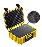 B&W Transportkoffer Outdoor Typ 3000 gelb mit Würfelschaum - wasserdicht nach IP67 Zertifizierung, staubdicht, bruchsicher und unverwüstlich