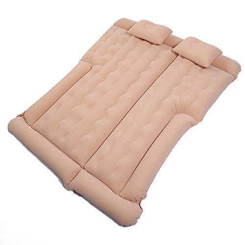 ZFFSC Cama Inflable Cama de Camping de la cojín Inflable para el hogar, Dos Almohadas, colchoneta de Aire Engrosada Inflable para el Coche para Dormir, Adecuado para Cama Inflable (Color : Rice)