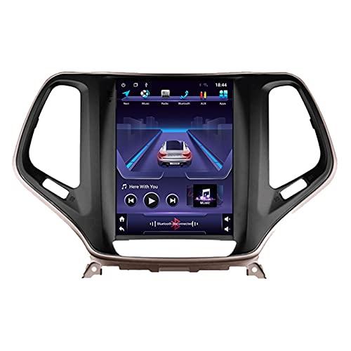 9 'Android 10.0 2 Din Radio De Navegación Para Jeep Cherokee 5 KL 2014-2018 Soporte Bluetooth USB WIFI Pantalla Táctil Reproductor De Video Multimedia Navegación GPS Autoradio(Color:WiFi 4G+64G)