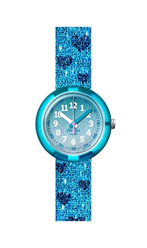 [フリック フラック] キッズ腕時計 TURQUOISE SPARKLE FPNP064 ガールズ 正規輸入品