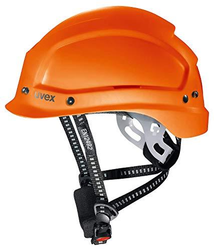 Uvex Pheos Alpine Schutzhelm - Belüfteter Arbeitshelm für die Baustelle - Orange Orange