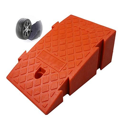 Baiyin Rampa De Umbral, Antideslizante con Hebilla Cosida Rampa para Silla De Ruedas, Portátil El Plastico Rampa De Acera Rampa De Viaje, 4 Colores, 2 Tamaños (Color : Orange, Size : 45X25X19CM)