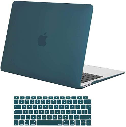 MOSISO Hülle Hartschale Kompatibel mit MacBook Air 13 2020 2019 2018 A2337 M1 A2179 A1932 Retina Bildschirm,Plastik SchutzhülleundTastaturschutz Kompatibel mit MacBook Air 13 Zoll,Deep Teal