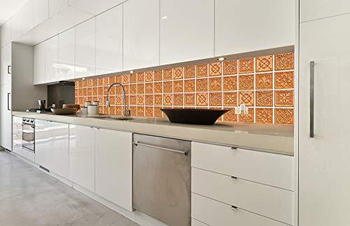 Zelfklevende keuken achterwand GRANIETEN TEGELS 350 x 60 cm | Zelfklevende spatwand keukenfolie | Waterbestendige folie voor de keuken | PREMIUM KWALITEIT | Gemaakt in de EU