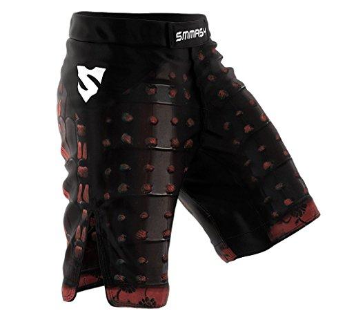 SMMASH MMA Shorts SAMURAI S M L XL XXL XXXL MMA BJJ UFC sport di combattimento (L)