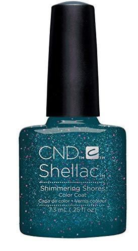 CND Shellac, Gel de manicura y pedicura (Tono Shimmering Shores) - 7.3 ml.