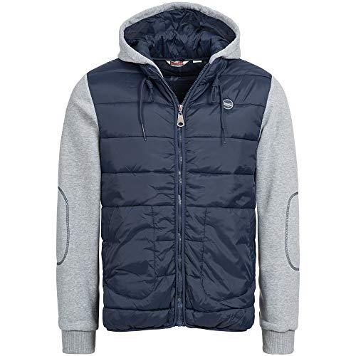 Lonsdale London Herren BEETLEY Jacket, Dark Navy/Marl Grey, L