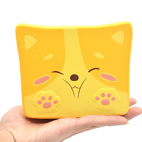 Kiibru Squishy Shiba Inu Toast Slow Rising Squishies Jumbo Dog Scented Bread Squishies 5.5' Stress Relief Kids Toys