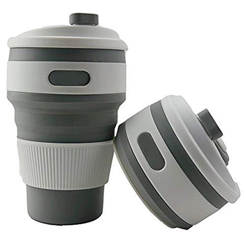 Chanety,taza de agua aislada,taza de agua Copa de silicona plegable caliente Portátil Telescópico Telescópico Taza de café taza de café plegable multifunción Taza de la taza taza de agua plegable