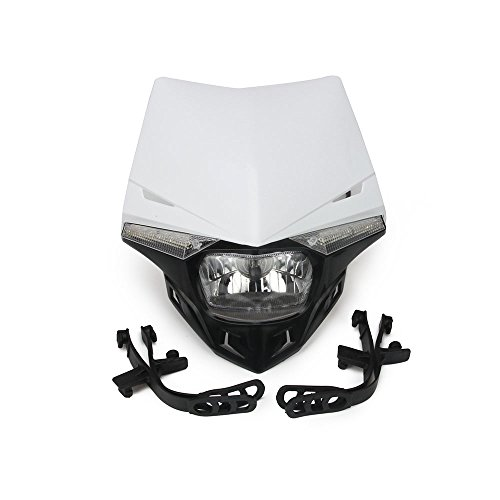 JFG RACING S2 12V 35W Universal Motorcycle Headlight Head Lamp Led Lights For Dirt Pit Bike ATV - White