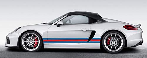 Modifycar Seitenbänder 210 x 10 cm. Martini Racing Look. Selbstklebende Vinylfolien