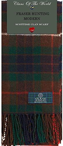 I Luv Ltd Fraser Hunting Modern Tartan Clan Scarf 100% Soft Lambswool