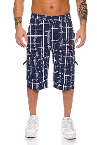 Raff&Taff Herren Bermuda Shorts Herren Sport Shorts Freizeithose Kurze Hosen Cargohose bis 4XL (XL, Nevi (RT001))