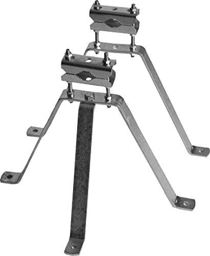 SKT MN03 Sat mastbeugelset wandafstand muurbeugel voor antenne-mast thermisch verzinkt, 30 cm Wandabstand