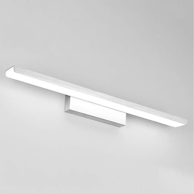 LHFJ Moderne LED-Wandleuchte über dem Spiegel, der LED-24W-Badezimmer-Licht-Schminkspiegel beleuchtet, bildet Leuchte, gebürsteter Aluminiumkrper, 24 , kühles Licht,Silber