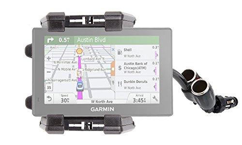 DURAGADGET Soporte De Coche Flexible para Garmin DriveSmart 60LMT / 70LMT - con Doble Cargador De Mechero