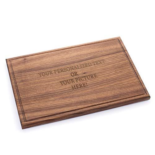 Tuuli Kitchen Tabla de cortar con grabado personalizado grande madera de nogal 44 x 30