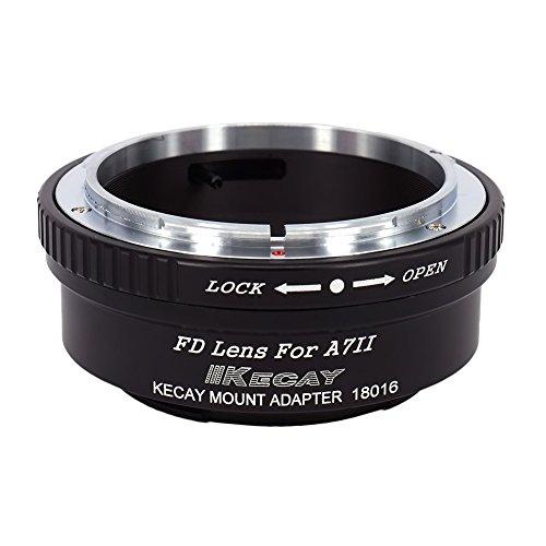 KECAY Adattatore di Montaggio Lente: Anello Adattatore per Obiettivo di Canon FD FL a Fotocamera Sony A7II A7S A7RII - Anello adattatore Canon FD per Sony A7II