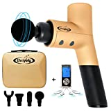 Thrively Percussive Massage Gun for Athletes – Reduces Recovery Time – Deep Tissue Massage Gun for Relaxing Your Muscles – w/Bonus TENS Unit for Fantastic Pain Relief