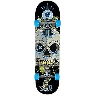 Xootz Kids Snake Skull Complete Beginners Double Kick Trick Skateboard Maple Deck - Snake Skull, 31 x 8 Inches:Greatestmixtapes
