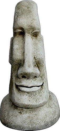 Estatua Cabeza DE Pascua Moai DE Piedra para Jardin O Exterior 40cm.