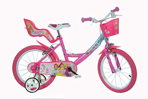 Dino Bikes Princess 16' Niñas 16' Metal Rosa bicicletta - Bicicleta (hacia un Lado, 40,6 cm (16'), Metal, Rosa, Cadena, De piñón Fijo)
