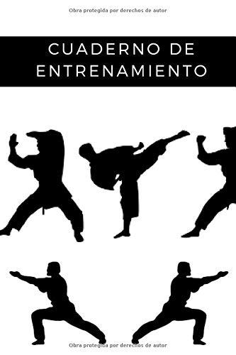 Cuaderno de entrenamiento: Un libro de entrenamiento para fanáticos del karate | jujitsu | arte marcial | Libro de entrenamiento cardiovascular y de ... progreso | Fácil y práctico | Ahorrar tiempo