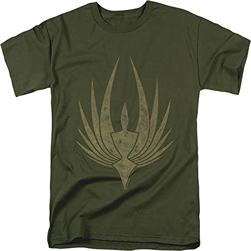 Battlestar Galactica Phoenix Green T Shirt & Stickers (X-Large)